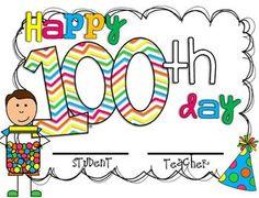 100th Day Award!  100th day mini unit! $2