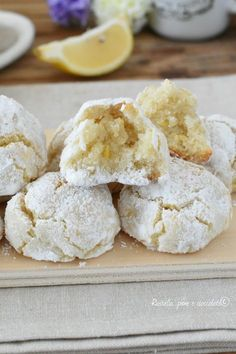 Raw Food Recipes, Sweet Recipes, Cake Recipes, Dessert Recipes, Almond Paste Cookies, Lemon Cookies, Biscotti Cookies, Cake Mix Cookies, Cheesecake Desserts