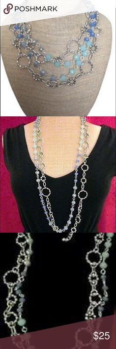 FINAL SALE PRICE Premier Designs necklace Two chains can be worn separately Premier Designs Jewelry Necklaces