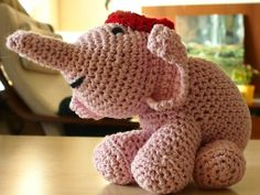 Τα ροζ ελεφαντάκια - Crochet elephants