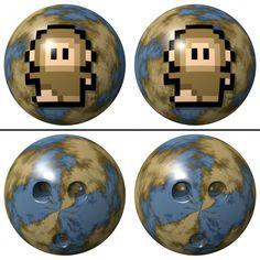 Dot Monkey Bowling Ball / Cross Eye / #Animal