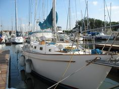 1998 Ted Brewer 40 Custom sailboat for sale. Sailboats For Sale, Boat Building, Sailing Ships, Ted, Cruise, Mountain, Cruises, Sailboat, Tall Ships