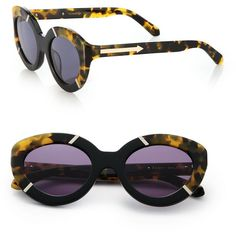 Karen Walker Flowerpatch 50MM Cat's-Eye Sunglasses ($260) ❤ liked on Polyvore featuring accessories, eyewear, sunglasses, apparel & accessories, retro style sunglasses, cat eye glasses, retro sunglasses, flower sunglasses and uv protection glasses