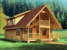 Cabin Plans, Log Cabin Plans, Log Home Plans and Log Cabin Floor Plans that fit into every lifestyle and budget from Southland Log Homes. Find yours today! Log Cabin Floor Plans, Log Home Plans, House Floor Plans, Tiny House Cabin, Log Cabin Homes, Log Cabins, Building A Small House, Log Home Designs, Cabins And Cottages
