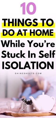 Who would have thought that finding things to do at home while you're in self-isolation will be such a hard task? I bet these ideas will help you! Productive Things To Do, Things To Do At Home, Things To Do Alone, Finding Purpose In Life, Life Purpose, Isolation Quotes, Mental Health Journal, Self Development, Personal Development