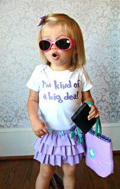 Im Kind Of A Big Deal - Funny Baby Onesie or Tee by ShopTheIttyBitty, $17.00