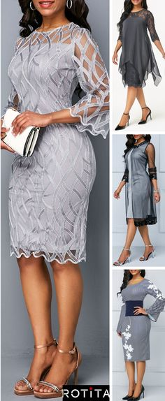 I have rounded up my favorite grey dress ideas in today's post. I've got you covered from your date night to your night out with the boys! Dressy Dresses, Club Dresses, Sexy Dresses, Evening Dresses, Fashion Dresses, Vestidos Plus Size, Tie Front Dress, Mom Dress, Mothers Dresses