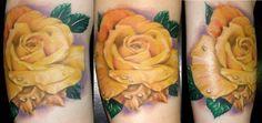 Yellow Rose Tattoo..my.mom's favorite rose