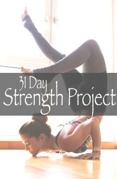 FREE YOGA! Pin it and join in on our 31 day yoga for strength project and watch your practice grow! Starts Jan 1, 2015!