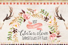 Watercolour Tribe&Flower DIY+Bonus by Graphic Box on Creative Market