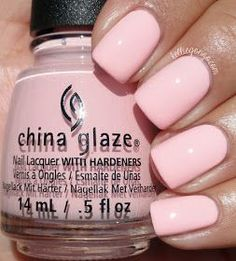 China Glaze Fresh Prince-ss - light pink creme #nail polish / lacquer from the fall 2016 rebel collection // @kelliegonzoblog