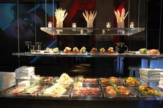 Hanging buffet by Peter Callahan Catering
