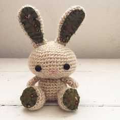 Amigurumi bunny crochet bunny tan bunny bunny tail rabbit doll amigurumi animal crochet amigurumi ready to ship handmade kawaii by SixthandDurian