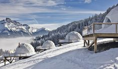Winter glamping: Swiss eco-luxury resort Whitepod offers an alternative to the traditional ski break Igloo Village, Switzerland Hotels, Ice Hotel, Beste Hotels, Dome House, Swiss Alps, Oh The Places You'll Go, Ideas, Medellin Colombia