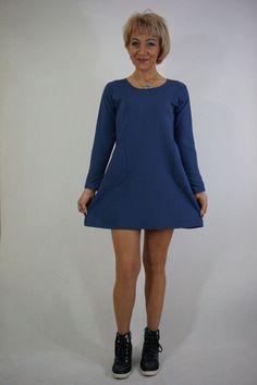 r+40+Tunika+Sukienka+Chabrowa+.+w+HeWoj+na+DaWanda.com