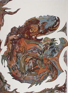 Roisel Ramirez  Aztec Graffiti, 2003  Screenprint