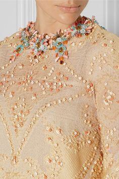 Biyan   Laurie embellished cotton-blend cloqué dress   NET-A-PORTER.COM