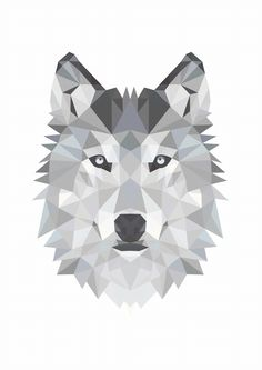 Printable Art Poster Print Wolf Illustration Photo by DesignClaud Wolf Illustration, Wolf Poster, L Wallpaper, Black And White Posters, Black White, Polygon Art, Kunst Poster, Poster Prints, Art Prints
