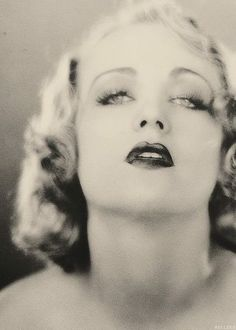 Carole Lombard and her painted-porcelain eyes, #1920s