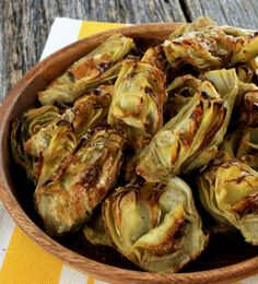 They're fast, easy, tasty and perfect for dipping! Pair these roasted artichokes with your favorite sauce and serve as an appetizer or snack! - Everyday Dishes & DIY