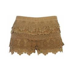 Clothings / beige lace shorts - casual shorts - skirts / shorts - women - River Island