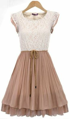 Lace Mosaic pleated Dress