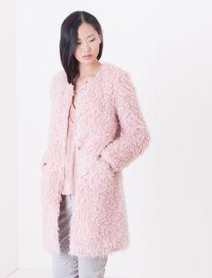 Reversible padded overcoat