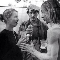 Kate Moss, Johnny Depp && Iggy Pop