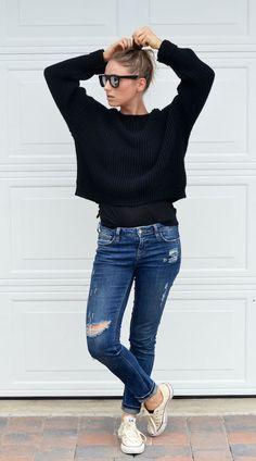 Casual smart : oversized sweater