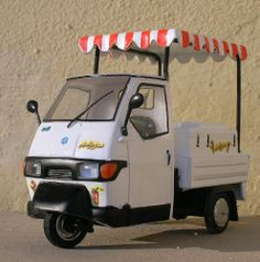 APE PIAGGIO ICE-CREAM scooter van tricycle van vespa-car tuk tuk scooter 1/32 | eBay