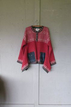 Upcycled Nordic Sweater tunic/Funky oversize by lillienoradrygoods