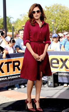 Eva Mendes looks fab in her own dress design for New York & Company! #fashion