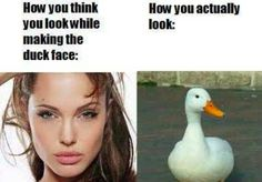 I love this article about duck faces and selfies!