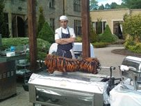 Spit Roast Wedding Catering Perfect Show Piece to Impress Guests.