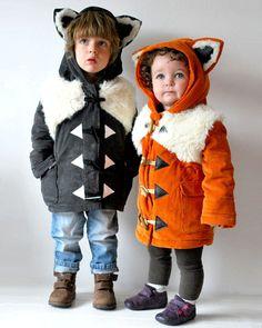 Kids fox coat PRE ORDER orange childrens animal by OliveAndVince