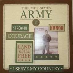 military scrapbooking layouts | Layout: The United States Army (#59)