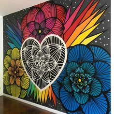 Meditation Space Wandmalerei Graffiti House 55 Ideen Growing Your Own Herbs I Graffiti Wall Art, Mural Wall Art, Diy Wall Art, Painted Wall Murals, Wall Decor, Mandala Art, Simple Wall Paintings, Posca Art, Wall Drawing