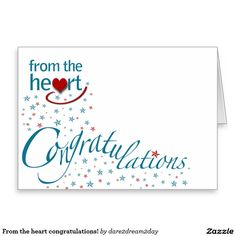 From the heart congratulations! stationery note card
