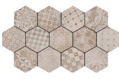 Ankara Hexagon Decor Mix Tiles 21x18.2cm - Tons of Tiles