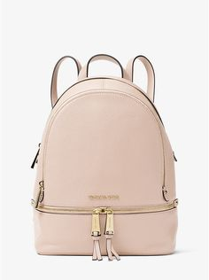c7e57890a3a9cb MICHAEL Michael Kors Soft Pink Rhea Medium Leather Backpack Klein Backpack,  What's In My Backpack