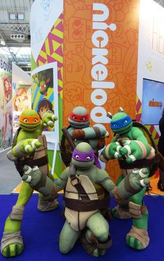 Donnie, Leo, Mikey & Raph from #TeenageMutantNinjaTurtles #Nickelodeon
