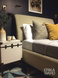 Find some great photography in the art section at HomeGoods! This print provided the needed horsepower for this masculine bedroom! #sponsored #HappyByDesign #HomeGoodsHappy