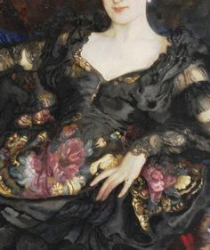 Sadness and classic art, Portrait of a Lady, Detail. by Isaak Brodsky...