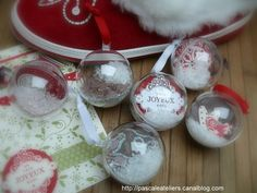 Décoration de Noël pour le sapin - boules transparentes
