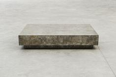 Joseph Dirand | Silver Coffee Table, 2015 copper old silver patina 35 x 190 x 148 cm 13.8 x 74.8 x 58.3 in.  Edition of 20 ex + 4 EA