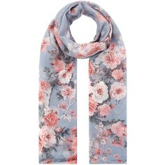 Accessorize Japanese Blossom Silk Scarf (12.885 HUF) ❤ liked on Polyvore featuring accessories, scarves, silk shawl, flower scarves, pure silk scarves, silk scarves and accessorize scarves