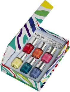 Nails Inc Rainbow shades set book style box