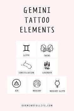 Gemini Sign Tattoo, Gemini Symbol, Astrology Tattoo, Tattoo Signs, Gemini Tattoo Designs, Leo Tattoos, Zodiac Sign Tattoos, Funny Tattoos, Zodiac Sign Traits