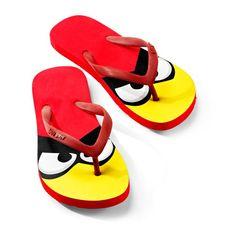68ef8aa77 Red Bird Flip Flops for Women Angry Birds Slingshot