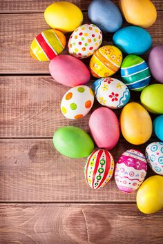 Photo about Easter eggs on wooden background. Image of holiday, multi, beautiful - 37728839 Happy Easter Wallpaper, Holiday Wallpaper, Boxing Day, Ostern Wallpaper, Easter Backgrounds, Egg Tree, Easter Wishes, Easter Pictures, Easter Peeps